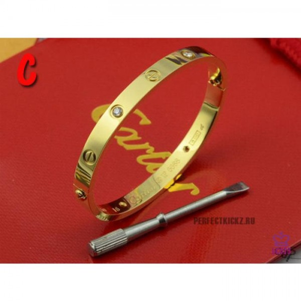 High Quality Cartier Classic Love Gold Bracelet With Diamonds  954096E74965