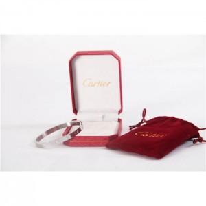 High Quality Cartier Love 6 Diamond Bangle Silver Bracelet  64039FCFE65D