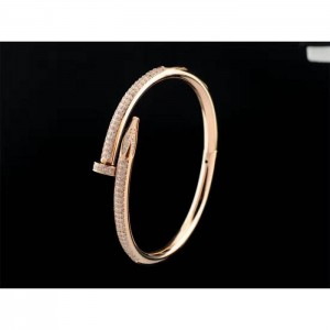 High Quality Cartier Juste Un Clou Diamond Bracelets Rose Gold  4EDE90A45C4B
