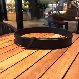 Black Ermenegildo Silver buckle belt ASS02048