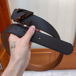 Black Ermenegildo buckle belt ASS02051