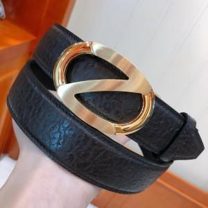 Black Ermenegildo Zegna Gold buckle belt ASS02056