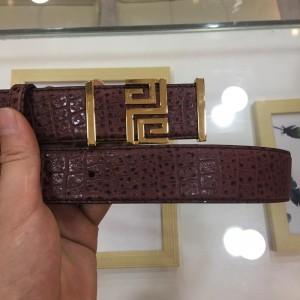 Dark Brown 2G Givenchy buckle belt ASS02278