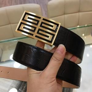 Black leather 4G Gold belt ASS02283