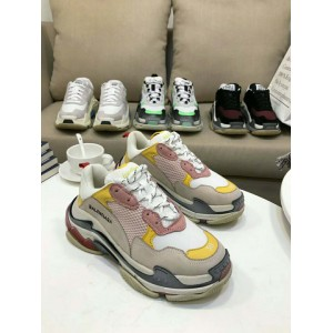 High Quality Balenciaga New Stripped Back Triple S Yellow/Pink Triple004