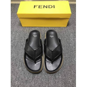 High Quality Fendi slide sandal in a jacquard fabric with all-over FF pattern GO_FD006