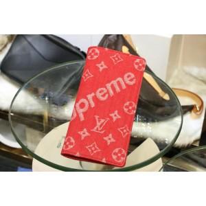 Louis Vuitton Fashion 66540 red supreme wallet LV03WM002