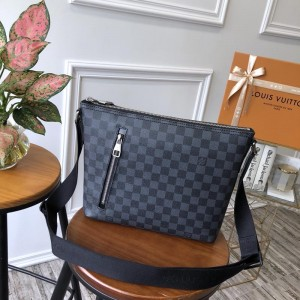Louis Vuitton Luxury 41211 DAMIER GRAPHITE HANDBAG LV04BM009