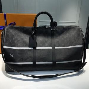 Louis Vuitton Luxury Keepall Bandoulire 55 monogram eclipse flash LV04BM034