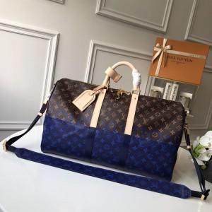 Louis Vuitton Luxury keepall bandouliere 50 moogram (M43861 pacific blue) LV04BM041