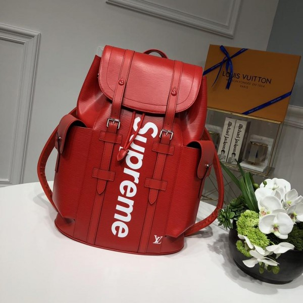 Louis Vuitton Luxury 53414 Supreme BAG RED LV04BM082