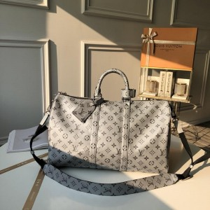 Louis Vuitton Luxury keepall bandouliere 45 silver monogram coated LV04BM097