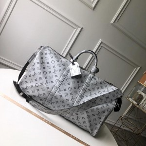 Louis Vuitton Luxury keepall bandouliere monogram 50 metallic silver LV04BM098