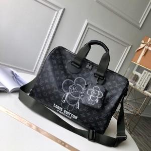 Loius Vuitton Luxury Keepall 50 Forever monogram Vivienne duffel bag LV04BM164