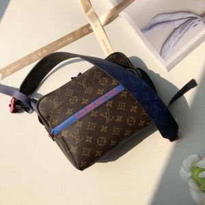 Louis Vuitton Luxury M43843 BAG brown-pacific blue messenger bag LV04BM186