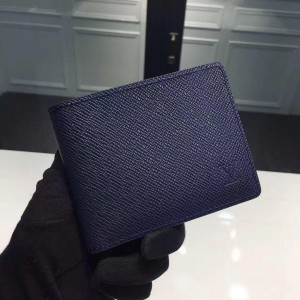 Louis Vuitton Luxury M32808 small wallet navy blue LV04WM003