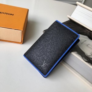 Louis Vuitton Luxury Black-Blue WALLET LV04WM033