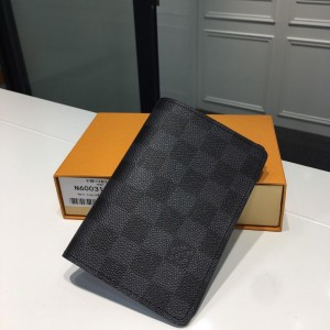 Louis Vuitton Luxury M60181 small graphite chess board pattern  WALLET LV04WM062