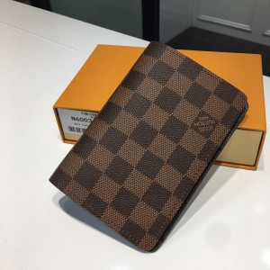 Louis Vuitton Luxury M60181 Small brown chess board pattern WALLET LV04WM063