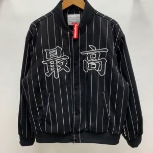 Supreme Prefect Quality 19ss Pinstripe Varsity Jacket MC280043