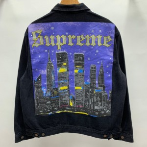Supreme Prefect Quality 19ss New York Painted Trucker Jacket MC280045