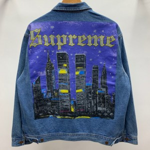 Supreme Prefect Quality 19ss New York Painted Trucker Jacket MC280046