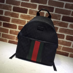 Black Gucci Perfect Quality Monogram Backpack GC06BM014