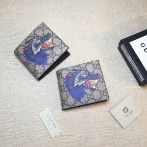 Gucci Perfect Quality blue wolf small wallet GC06BM062