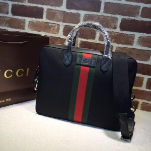 Gucci Perfect Quality black canvas brief case GC06BM099