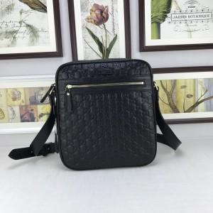Gucci Perfect Quality black leather Messenger bag GC06BM110