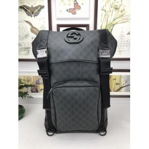 Gucci Perfect Quality black wide top back pack GC06BM112