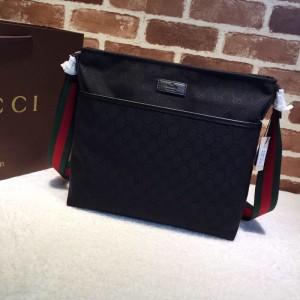 Gucci Perfect Quality black canvas handbag  GC06BM141