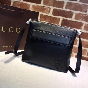 Gucci Perfect Quality black leather handbag GC06BM149