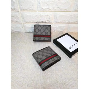 Gucci Perfect Quality brown canvas wallet GC06BM163