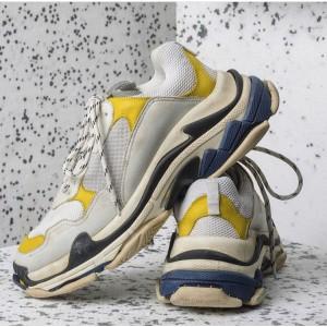 High Quality Balenciaga Triple S Yellow/White Trainers Triple005