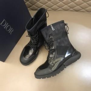 Dior Oblique Calfskin Mid Top Black Boots MS021043