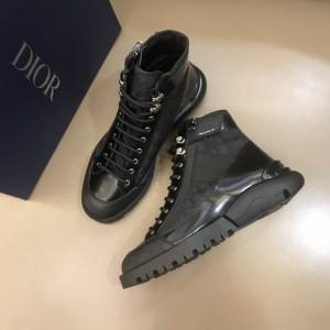 Dior Oblique Calfskin Black Boots MS021047