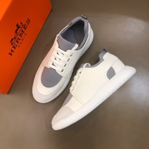 Hermes High Quality Sneakers White and Grey tongue with White sole MS021093