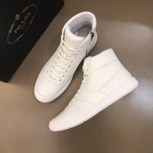 Prada High Quality Sneakers High-top White and white soles MS021120