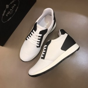 Prada High Quality Sneakers White and black heel with white sole MS021121