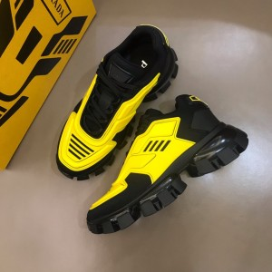 Prada High Quality Sneakers Yellow and black heel with black sole MS021125