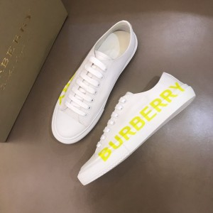 Burberry Low-top High Quality Sneakers White and Yellow print MS021132