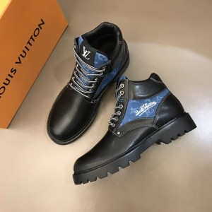 LV Oberkampf ankle boot combines black calf leather with LV's signature MS021212 Updated in 2019.11.28