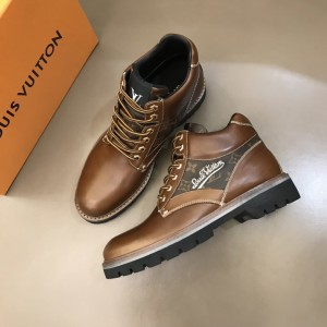 "LV Oberkampf Ankle brown calf leather Boot and with a cursive ""LV"" MS021215 Updated in 2019.11.28"