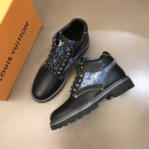 "LV Oberkampf Ankle Boot in black and signed with a cursive ""LV"" MS021216 Updated in 2019.11.28"