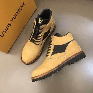 LV Beige nubuck leather Boots MS021219 Updated in 2019.11.28