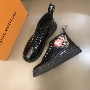 LV black bright leather Boots with LV design MS021223 Updated in 2019.11.28