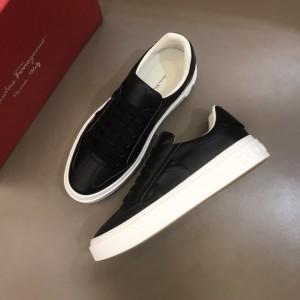 Salvatore Ferragamo High Quality Sneakers Black and 3D Gancini Symbol  MS021323 Updated in 2019.11.28