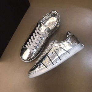 Valentino High Quality Sneakers Silver and black VLOGO print with silver sole MS021334 Updated in 2019.11.28