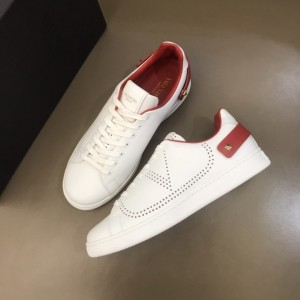 Valentino High Quality Sneakers White and VLOGO embroidery with red heel strap MS021337 Updated in 2019.11.28
